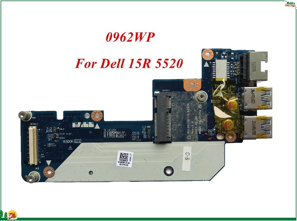 US $11 6 20% OFF|USB Ethernet Wifi Wireless Daughter Board 962WP 0962WP CN  0962WP For Dell Inspiron 15R 5520 QCL00/10 LA 8242P 100% Working-in