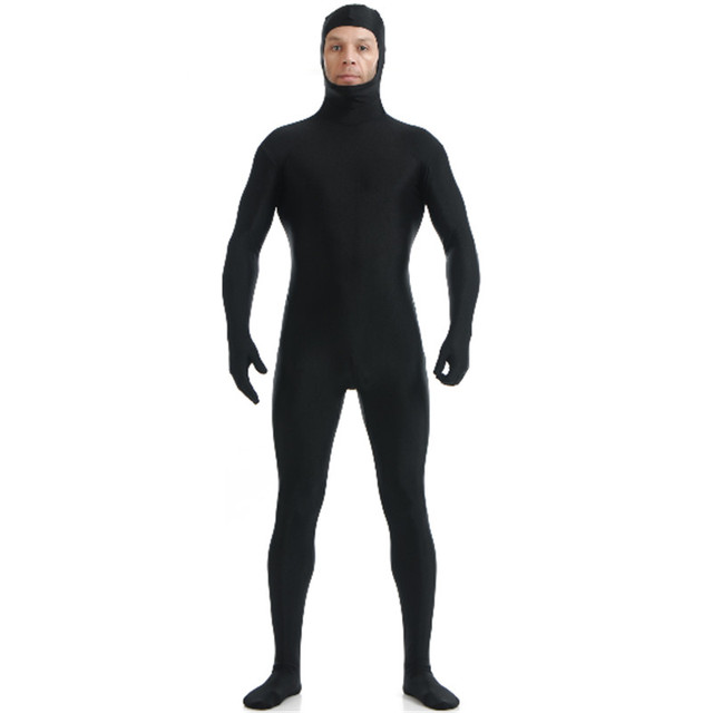 high quality Full Body Open Face Zentai Suit Mens Lycra Nylon Custom Second Skin Tight Suits Bodysuit Halloween Costume For Men