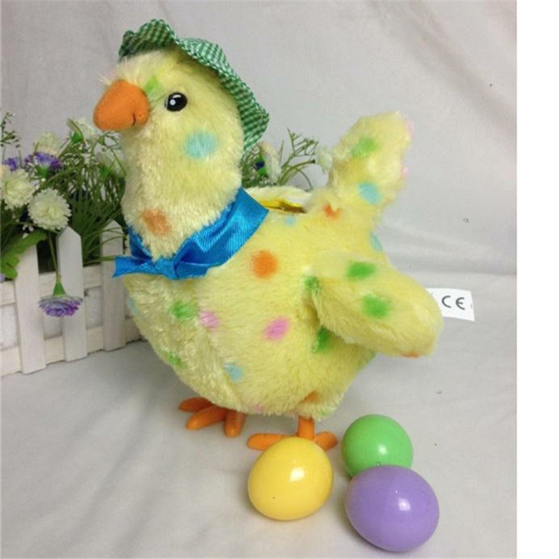 Dropwow Egg Droppin Mama Hen Interactive Stuffed Animal Funny
