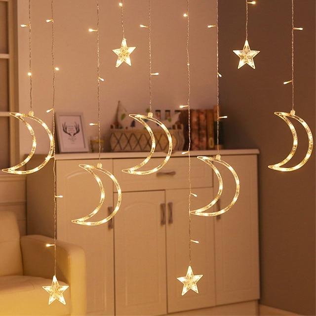 Star Moon 3 5m String Lights Indoor Room Decoration Led