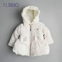 Зимнее пальто для новорожденных девочек, Толстая куртка с длинными рукавами, Осенняя модная теплая верхняя одежда для малышей, пальто, одежда для детей 0-6 месяцев