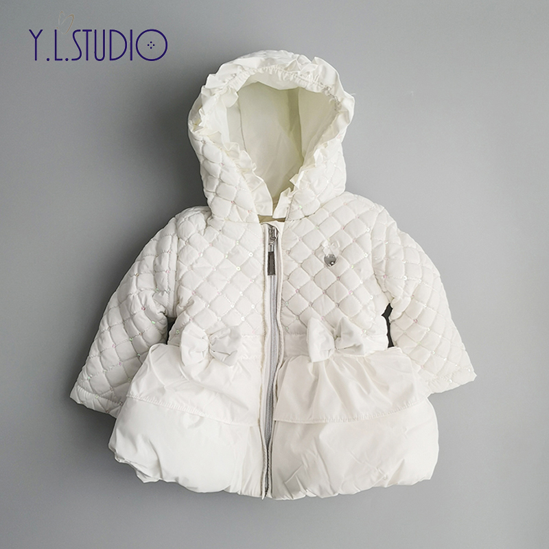 Newborn Baby Girls Winter Coat Thick Long Sleeve Jacket 2018 Autumn Fashion Babies Warm Outerwear Clothes for 0M-6M Kids
