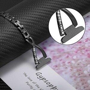 Image 4 - Paslanmaz çelik + elmas kordonlu saat Garmin Vivomove HR/3/3 S/Vivoactive 4/4s /Venu/lüks/stil saat kayışı kadın askısı