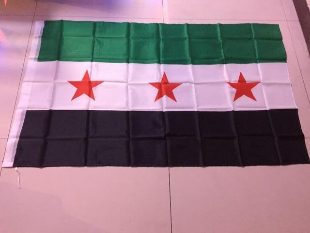 Nieuwe 90*150 cm vluchtende shoping 1 stks Syrië vlag SY SYR NIEUWE Syrische Arabische Republiek nationale vlag 3x5 FT