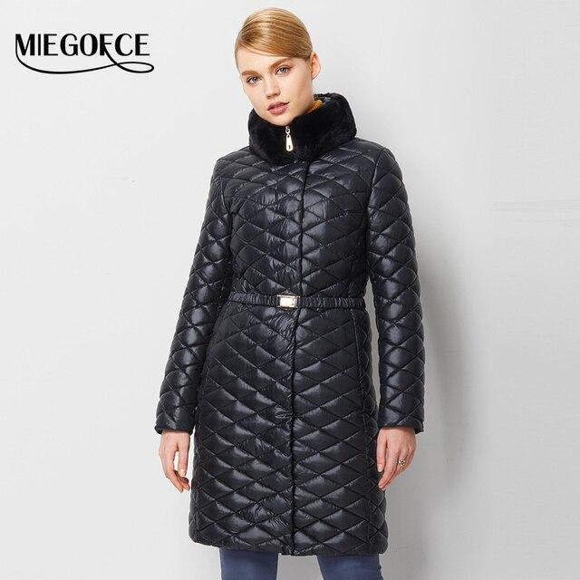 MIEGOFCE 2017 Winter Down Coat Jacket Women Long Coat Parkas Female Warm outwear Rabbit fur Collar High Quality European style