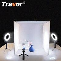Travor Lightbox Softbox 40*40CM Light Box Photo Soft Box With LED Ring Light Mini Tripod For Studio Photography Photo lightbox