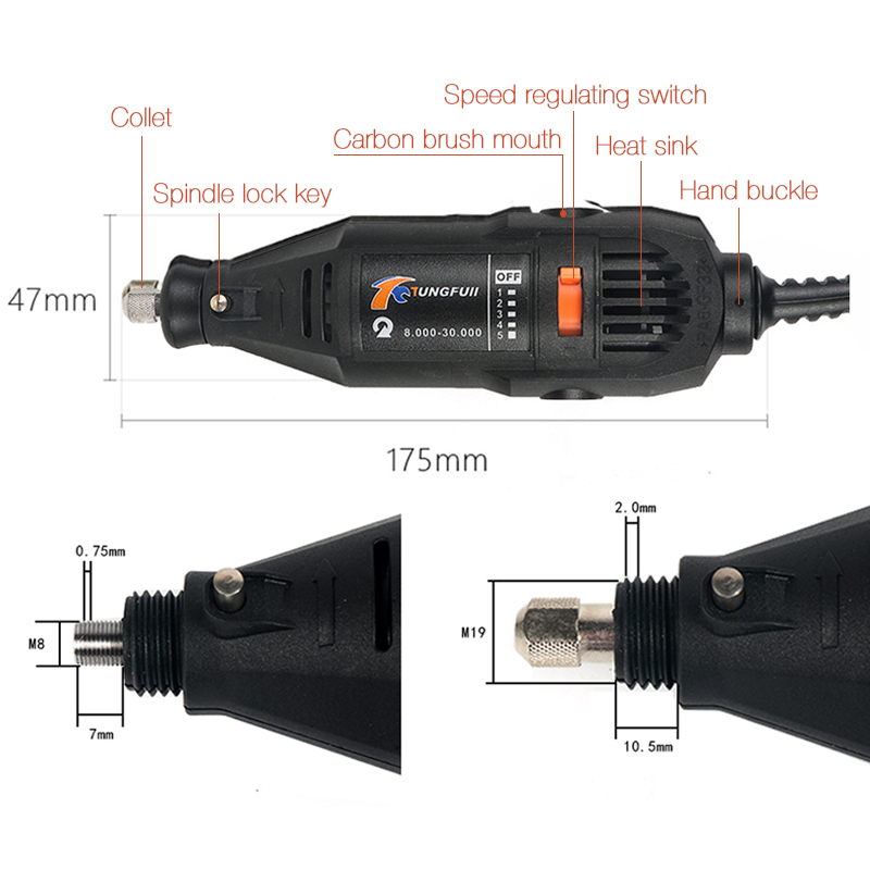 Mini Machine Accessories 220v Tools Grinding Shaft Drill Drill Flexible Rotary Dremel Wheel Electric Tools Wood Tools For Power