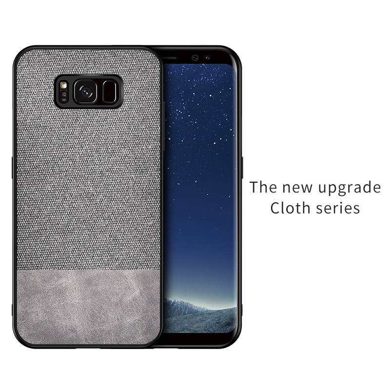 For Samsung Galaxy s9 s8 s10 Plus s7 edge s10e case Fabric Cloth Ultra thin Shockproof business case for Samsung Galaxy s9 plus in Fitted Cases from Cellphones Telecommunications