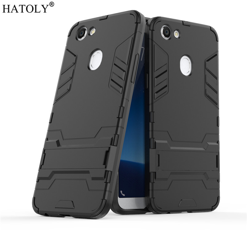 HATOLY For Armor Case OPPO F5 Case OPPO F5 Shockproof Robot Silicon Rubber Hard Back Phone Cover For OPPO F5 Fundas