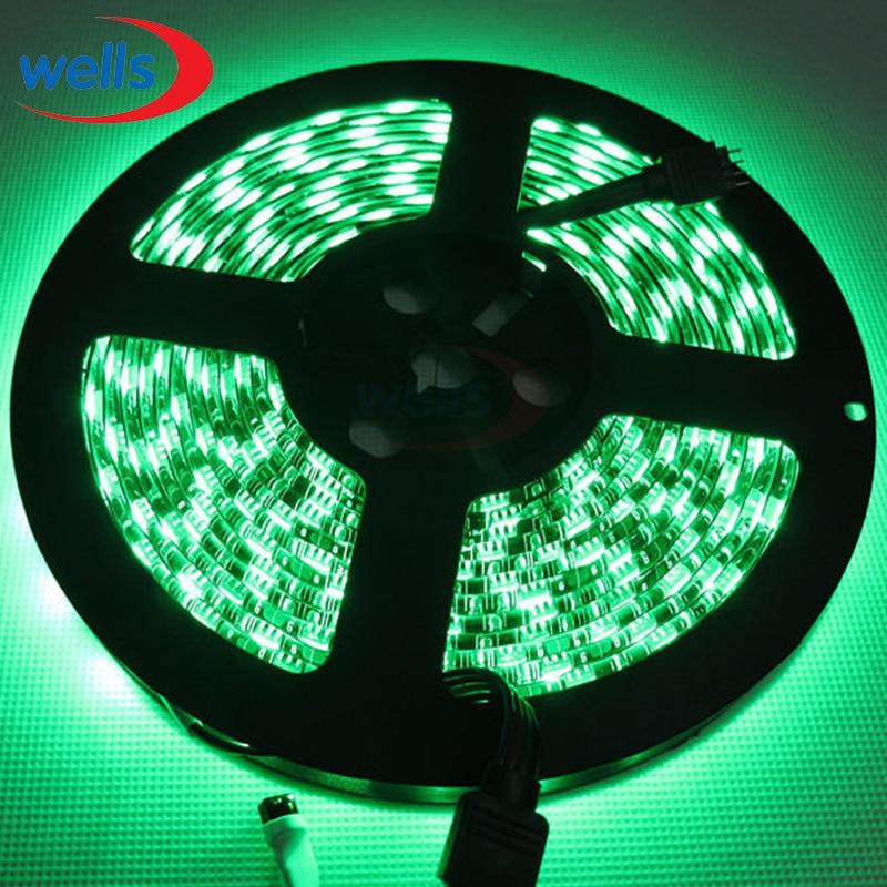 5M 300 pixel 60 LEDs/M SMD 5050 Led 12V led light Black PCB Led Flexible RGB/White/Warm White Led Strip Waterproof IP65 ledstrip