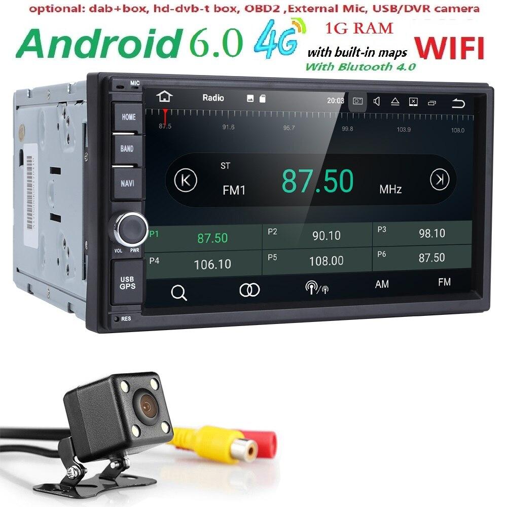 Android 6 0 Auto Radio Quad Core 7 Inch 2 DIN Universal font b Car b