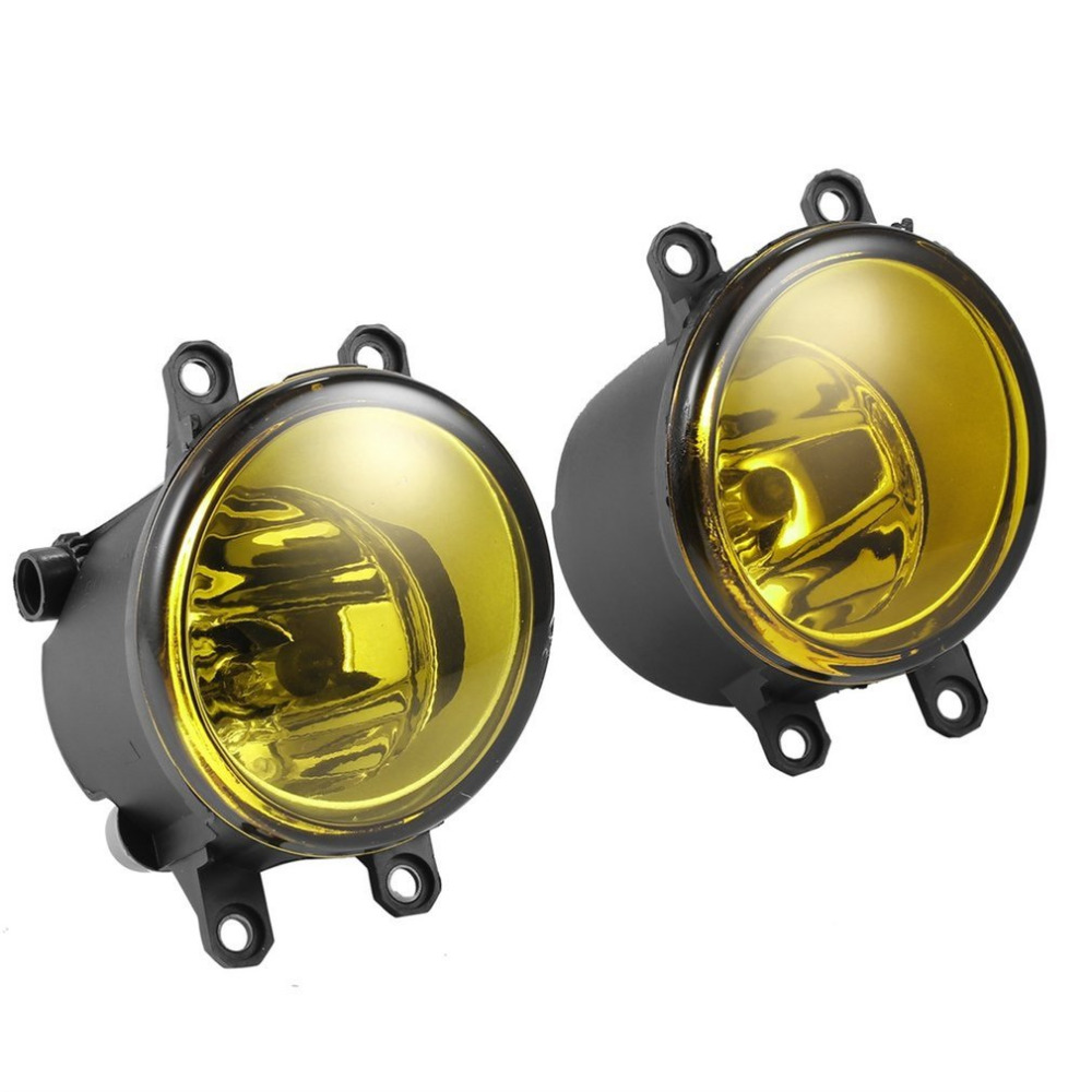 Universal 2 Pieces 3000K Yellow Lens Fog Light Lamp Left Right RH LH Side For Toyota for Camry for Yaris Increase Visibility Hot 2pcs fog light lamp left right set for toyota camry corolla yaris rav4 lexus gs350 gs450h lx570 hs250h is f lx570 rx350 rx450h
