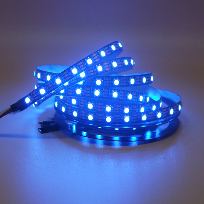 DC5V WS2812B ws2812 RGB individually addressable Smart led pixel strip light Black/White PCB 30 60 leds/m WS2812 IC tape lamp st