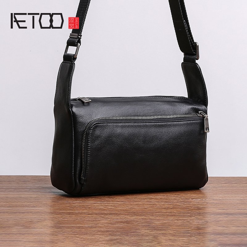AETOO Head cowhide Shoulder Bag man small bag official document business Leather crossbody bag casual soft leather bagAETOO Head cowhide Shoulder Bag man small bag official document business Leather crossbody bag casual soft leather bag