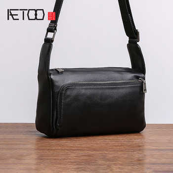 AETOO Head cowhide Shoulder Bag man small bag official document business Leather crossbody bag casual soft leather bag - DISCOUNT ITEM  50% OFF All Category