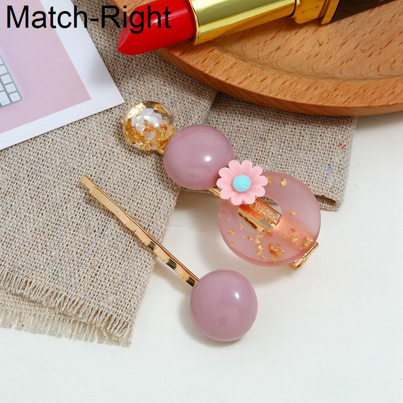 Match-Right 3Pcs/Set Pearl Metal Hair Clip Barrette Comb Bobby Pin Hairband Hairpin Headdress Styling Hair Accessories KK311