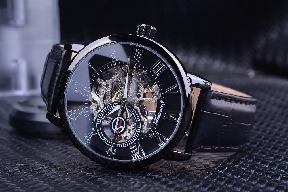 HTB15KocXfvsK1RjSspdq6AZepXaM Forsining Men Watches Top Brand Luxury Mechanical Skeleton Watch Black Golden 3D Literal Design Roman Number Black Dial Clock
