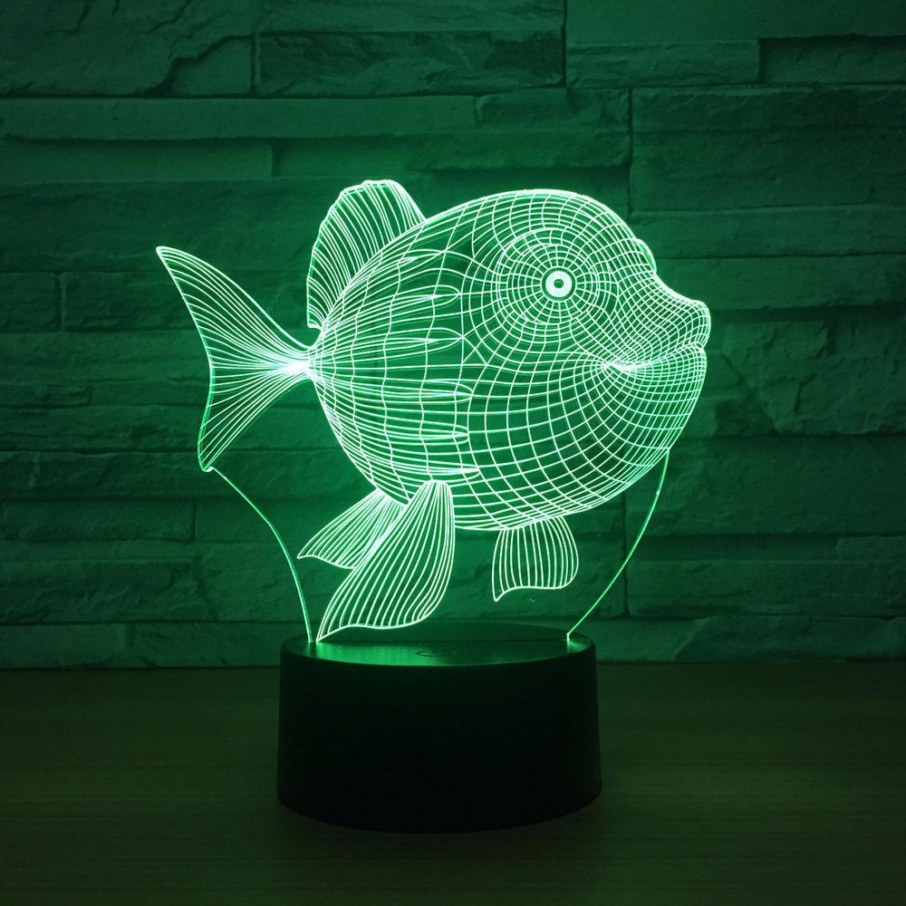 Creative Shark Fish Lovely Night Light 3D Lights Children Decorate - Night Lights - Photo 6