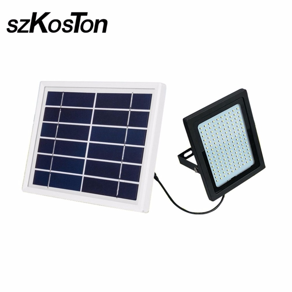 150LED Solar Powered Saving Flood Light Radar Induction Spotlight IP65 for Home Garden Lawn Pool Yard Waterproof Outdoor Lamp 150 leds solar powered led flood light radar induction spotlight ip65 waterproof outdoor lamp for garden lawn pool yard 2 color