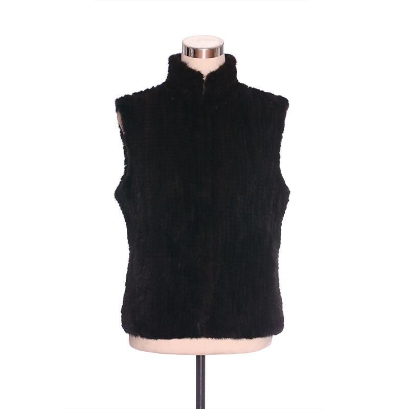 ZY88025 зимний женский жилет из натурального меха норки с карманами и воротником стойкой, верхняя одежда, пальто, куртка без рукавов