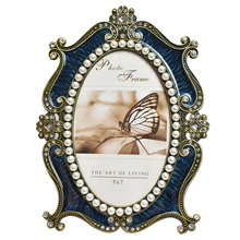 European Luxury Photo Frame Classic Retro Pearl Oval Wedding Home Decoration
