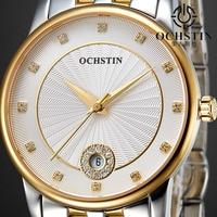 2017 Watches Women Ladies Luxury Ochstin Auto Date Quartz Watch For Woman Waterproof Stainless Steel Gold