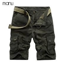 MANLI 2018 Men's Summer Camo Leisure Outdoor Sport Cargo Shorts Hiking Military Combat Tactical Male Loose shorts No Belt