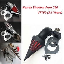 For Honda Shadow Aero 750 VT750 (All Years) Motorcycle Air Cleaner Kit Intake Filter Black Chrome