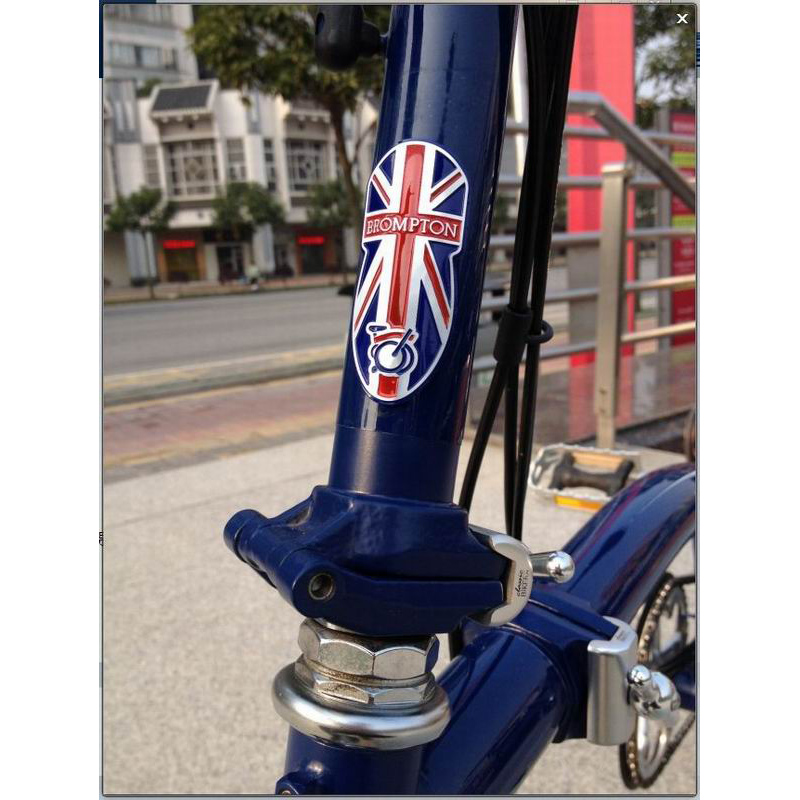 Bicycle Metal Head Badge Decal Head Post Stem Sticker For Brompton Folding Bike Bicycle Accessories