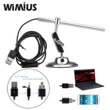 Wimius Portable Numérique USB Microscope Endoscope Loupe Vidéo Étanche Caméra CMOS Capteur HD MIni Cam 10x to200x 6 Led IP67