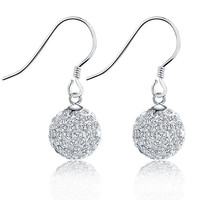 925 Sterling Silver Ball Drill Xiangbala Korean Fashion Jewelry Wholesale Silver Crystal Ball Earrings Special Offer