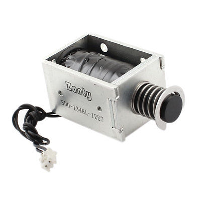 High quality  DC 12V 2000g Force 6mm Stroke Linear Push Pull Type Solenoid Electromagnet Free shipping  цены