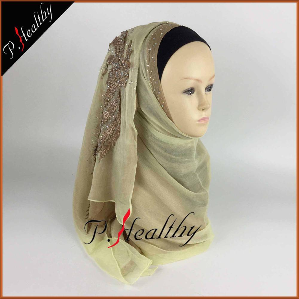 Свадебный хиджаб платок головной убор одежда модная свадебная шаль шарфы Муслин, можно выбрать Цвета, phw001 - Цвет: color7