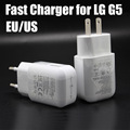 50pcs/lot DHL free Original white 5V / 9V 1.8A TYPE C USB 3.1 Fast wall charger +1M Type c data cable for lg G5
