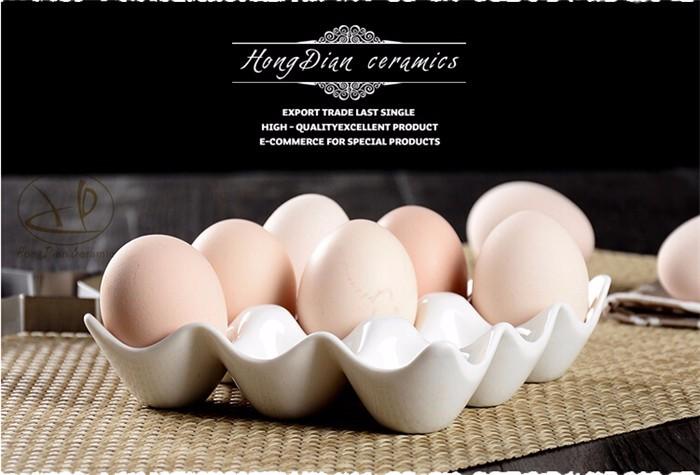 Kühlschrank Eierhalter 10 : Kreative 9 grids weiß keramik eierablage container aufbewahrungsbox