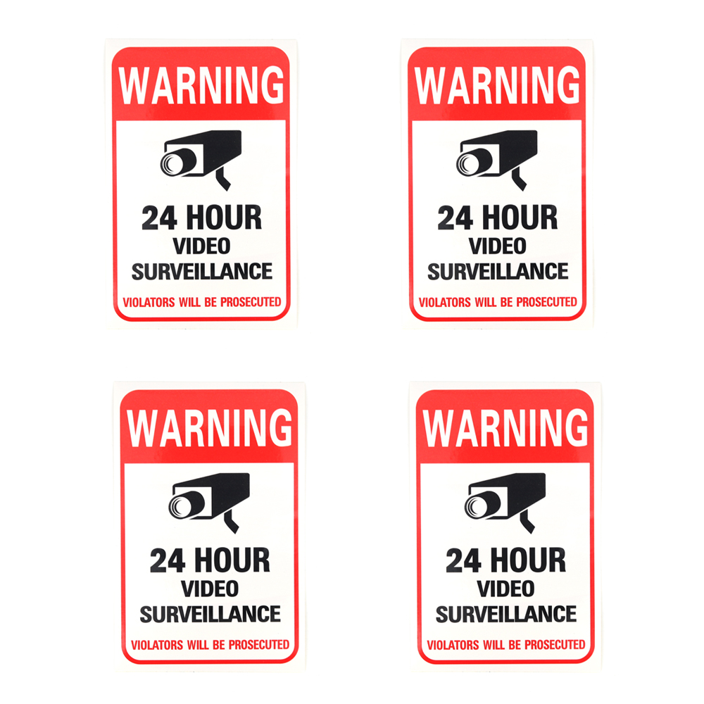 FAKE NIGHTVISION LED SECURITY DOME CAMERAS+WARNING SIGN+STICKER LOT