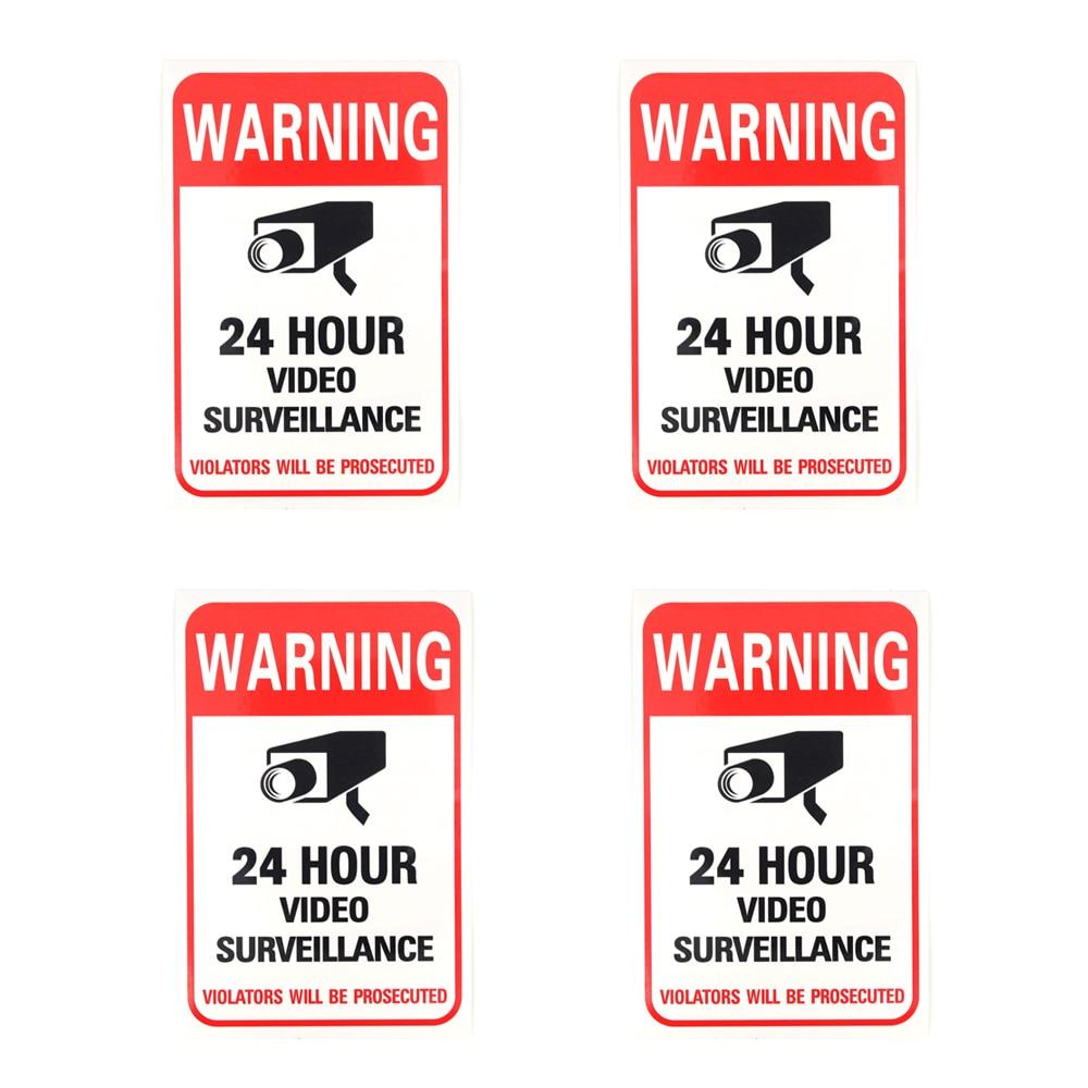 NEW 4pcs/lot Sunscreen Home CCTV Video Surveillance Security Camera Alarm Sticker Warning Decal Signs