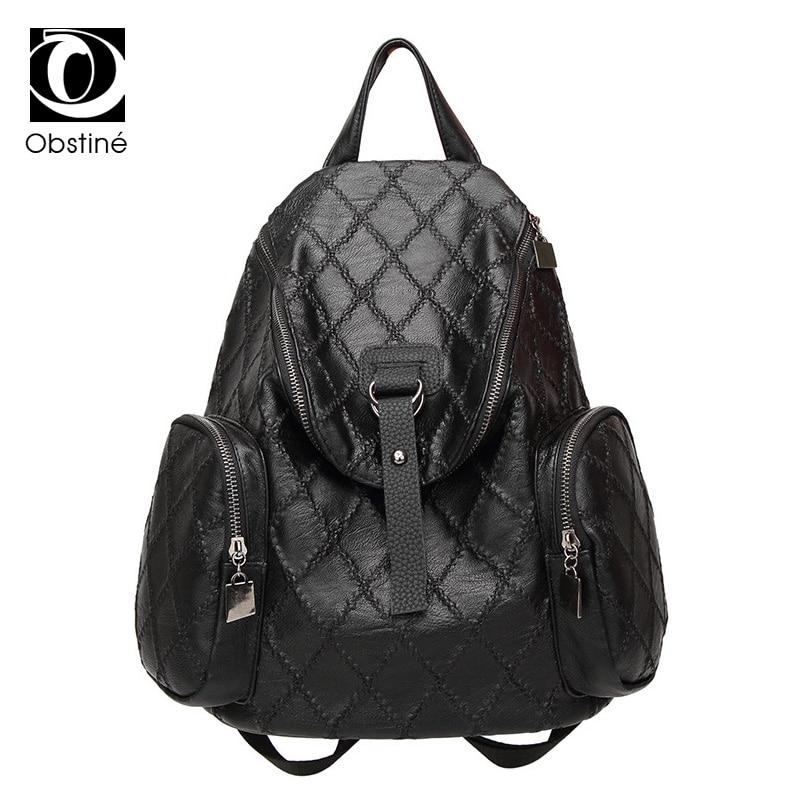 Women Backpack Fashion PU Leather Mochila Feminina School Bags For Teenagers Girls Leisure Backpacks Travel Bags Womens