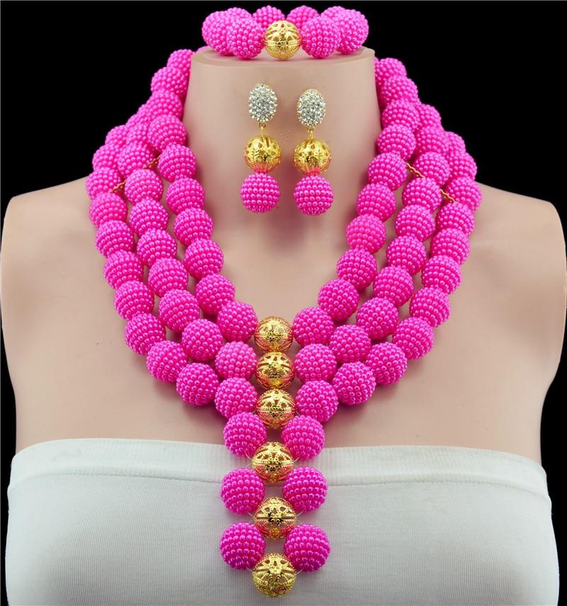 Christmas New Purple Crystal Beads Jewelry Sets Handmade Weaved ...