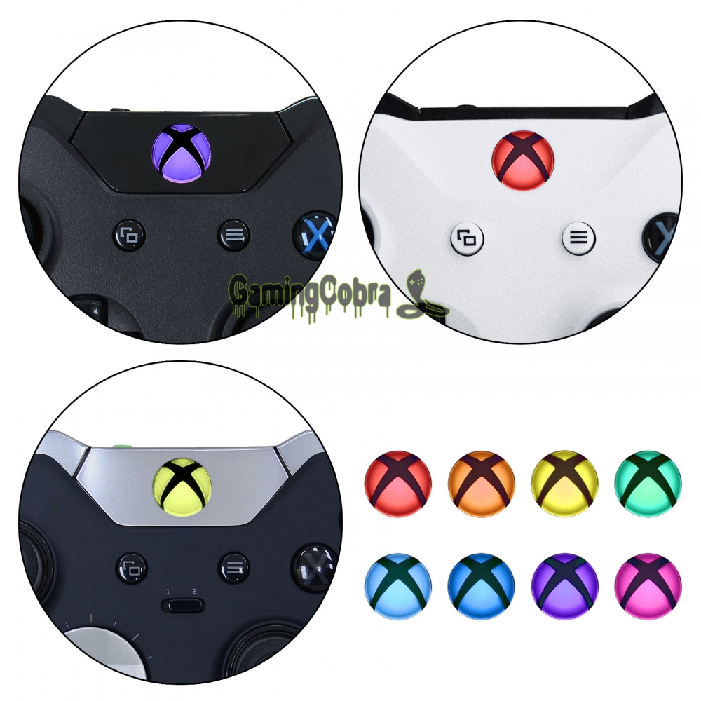 US $12 99  Custom Home Guide Button LED Stickers for Xbox One /S /Elite /X  Controller with Tools Set 40pcs in 8 Colors JYXBS0013-in Stickers from