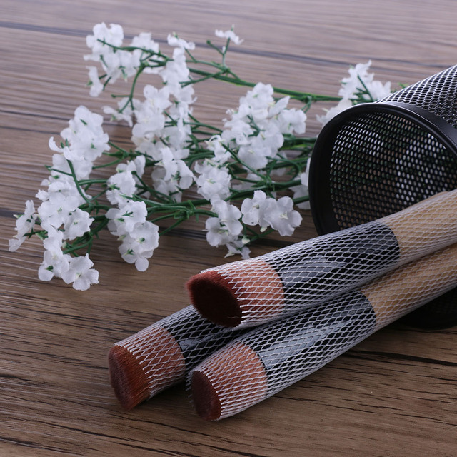 20pcs New Fashion Convenient White Plastic Make Up Cosmetic Brushes Guards Mesh Protectors Brush Cover Sheath Net Beauty Hot Makeup Brushes