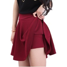 2016 Woman Shorts Skirt  Fashion High Waist Sexy Office Lady Skirts Female Elastic Mini Skirt Autumn Women Skirt SK004