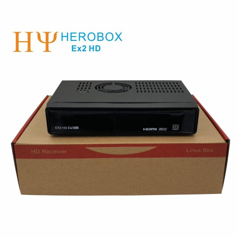 Genuine HEROBOX EX2 HD DVB-S2 Satellite Receiver  HD Linux Enigma2 S BCM7362  Dual processor 512MB DDR3 Free Shipping wavelets processor