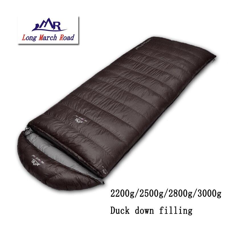 LMR outdoor ultralight falling 2200g/2500g/2800g/3000g duck down can be spliced envelope winter camping sleeping bag наушники беспроводные с микрофоном sony mdr as600bt orange