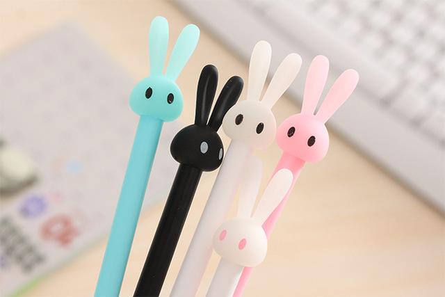 1 pcs/lot Cute Candy Color  Gel Ink Pen 0.5mm  Cartoon Maker Pens School Office Stationery Supplies