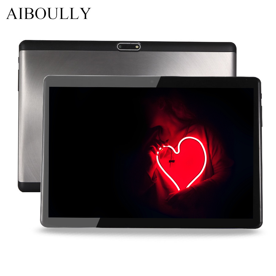 AIBOULLY 10.1 inch 4G Phone Call Android 7 Tablets PC 1920*1200 Octa Core 3G WiFi Dual Cameras A-GPS Smart Tablet 6000 mAh 9.7