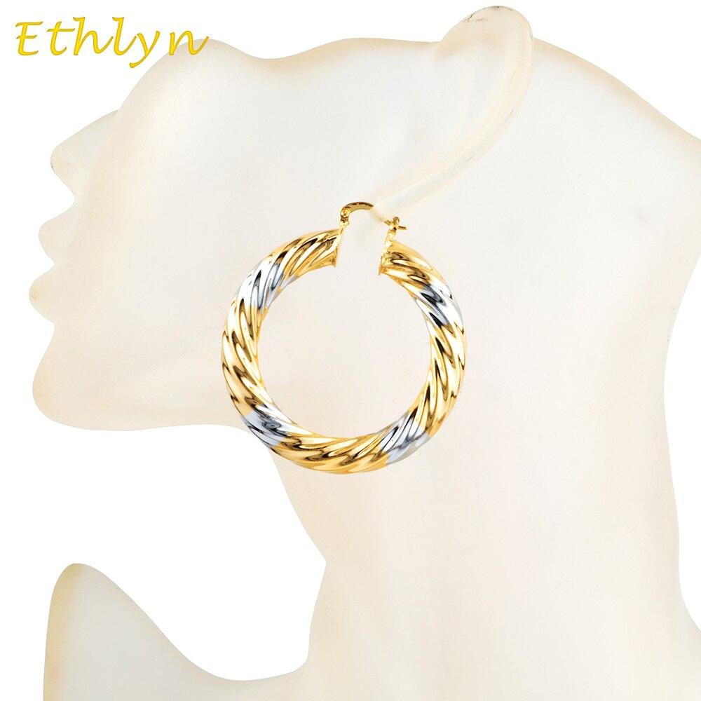 Ethlyn покрытие двухцветная Дубай ювелирные изделия, серьги ...
