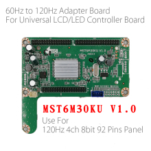Placa adaptadora de panel LED, 60HZ a 120HZ, MST6M30KU V1.0 para placa controladora LED LCD de TV de gran tamaño 120hz