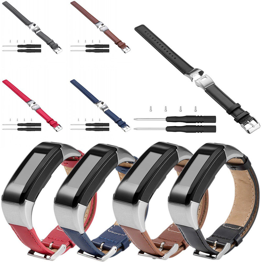 2018 Leather <font><b>Watch</b></font> Bands for Garmin Vivosmart HR Approach <font><b>X10</b></font> X40 5 Color Wristband Bracelet Leather <font><b>Watch</b></font> Strap Accessory image