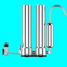 Фильтр для воды/3 ступени столешницы водопроводной фильтр/304 очиститель воды из нержавеющей стали с прямым раствором воды